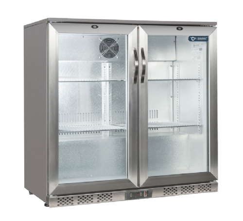 Coolpoint  HXST200 Stainless Steel Double Door Bottle Cooler